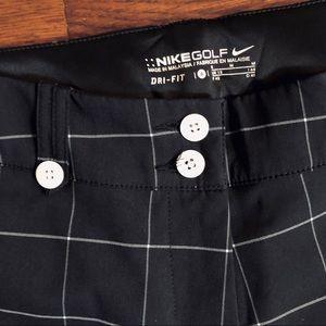 Nike Pants - NIKE GOLF Black Plaid Capri Crop Dri-Fit Pants